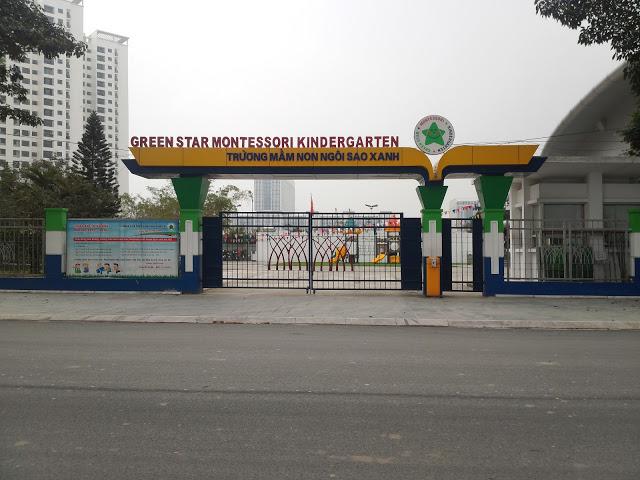 Trường mầm ngon ngôi sao xanh trong khu đô thị thành phố Giao Lưu - lh mua chung cư 0987 065 557