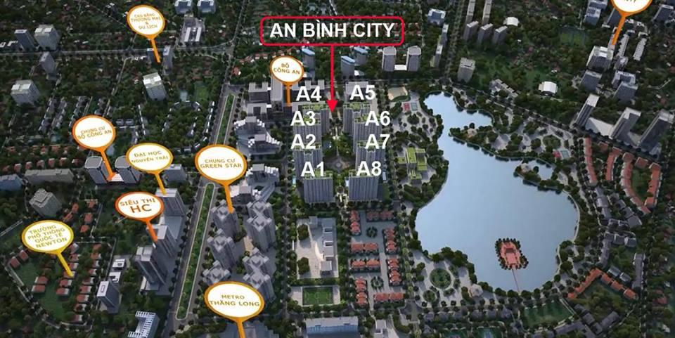 Hồ An Bình City rộng 15 ha  - lh mua căn hộ 0987 065 557