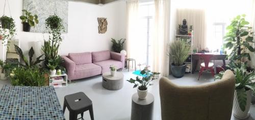 Nội thất căn hộ chung cư gần gũi với thiên nhiên